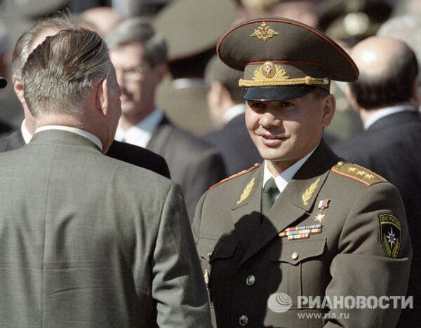 Глава министерства по Чрезвычайным ситуациям России Шойгу