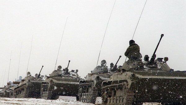 Российские военные на учениях в ЦВО