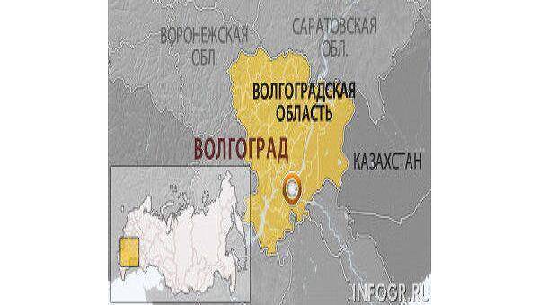 Волгоградская область. Карта