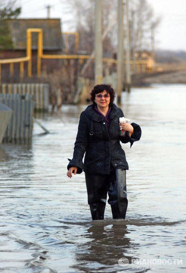 Наводнение в селе Сухая Вязовка Самарской области