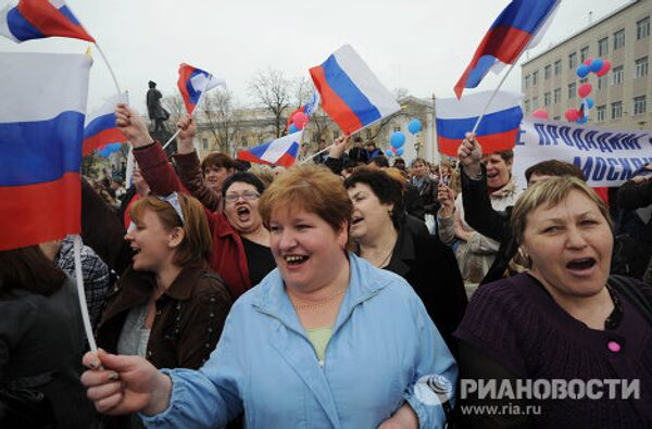 Митинг в поддержку избранного мэра Астрахани Михаила Столярова
