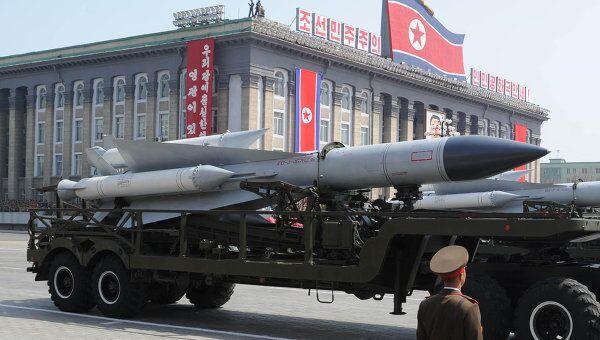 Военный парад в КНДР. Архив