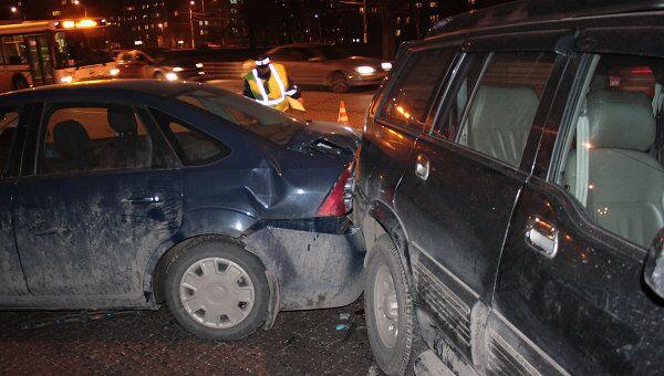 Шесть автомобилей столкнулись на юге Москвы