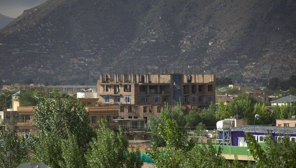 Дом, откуда группа боевиков обстреливала парламент в Кабуле