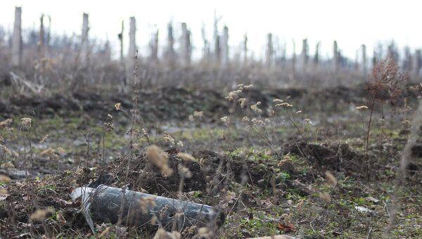Cнаряды в лесу близ поселка Урман в Башкирии