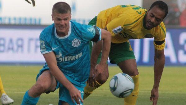 Игровой момент матча Зенит - Кубань