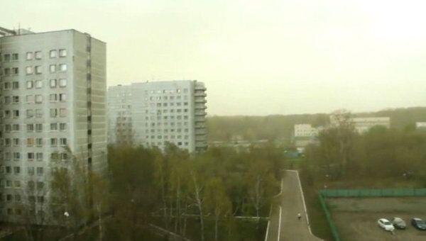 Зеленые облака над Москвой. Съемки природного явления