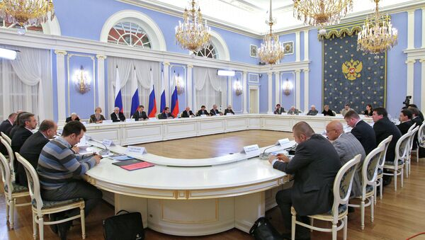 Президент РФ Дмитрий Медведев встречается с президентским Советом по правам человека