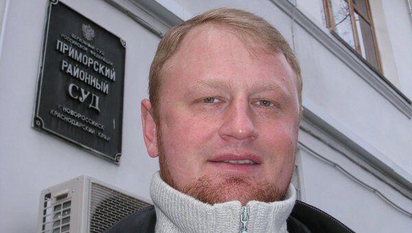 Майор Алексей Дымовский перед отправкой в СИЗО. Архив
