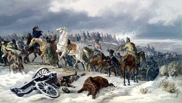 Переход наполеоновской армии через реку Березину