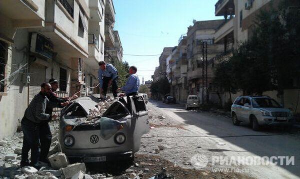Жители сирийского города Хомс