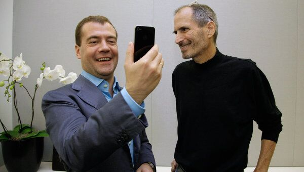Встреча Дмитрия Медведева со Стивом Джоббсом