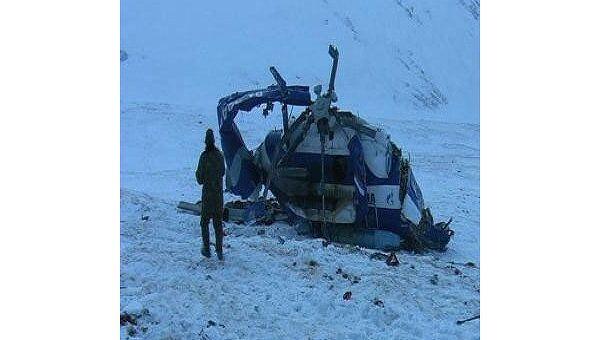 Вертолет Ми-8, разбившийся на Алтае 9 января 2009 года