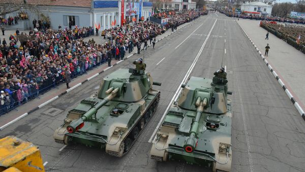 Парад в Белогорске. Архивное фото