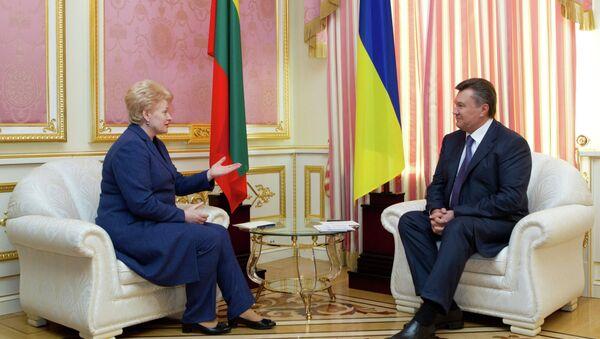 Встреча В. Януковича и Д.Грибаускайте в Киеве