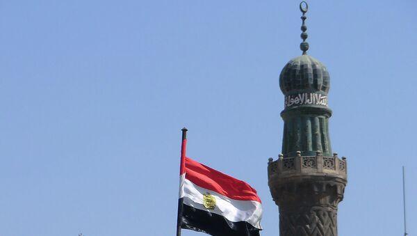 Египетский флаг, архивное фото