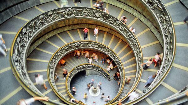 Винтовая лестница, музей Ватикана