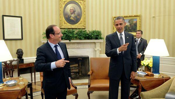 Встреча Обамы и Олланда перед саммитом G8 в Кэмп-Дэвиде