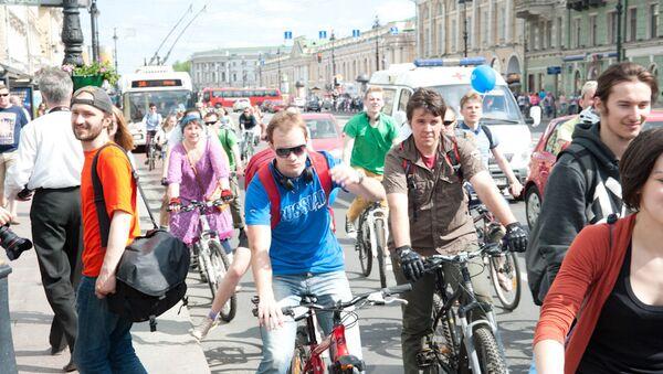 Велогонка в разных городах