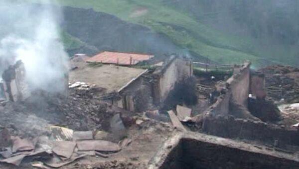 Пожар превратил горное дагестанское село Хутрах в пепелище