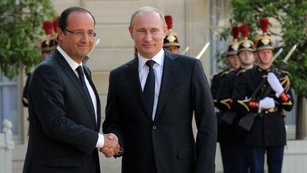Путин и Олланд встречаются в Париже