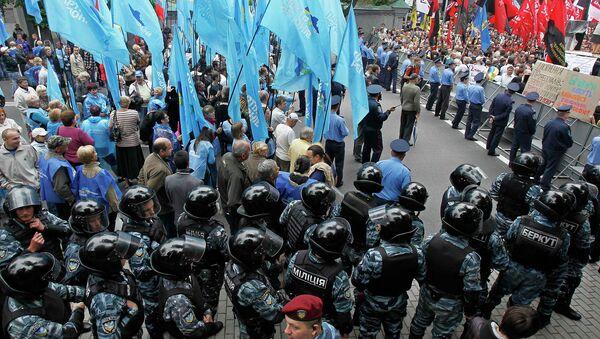 Акции сторонников и противников русского языка в Киеве, Украина