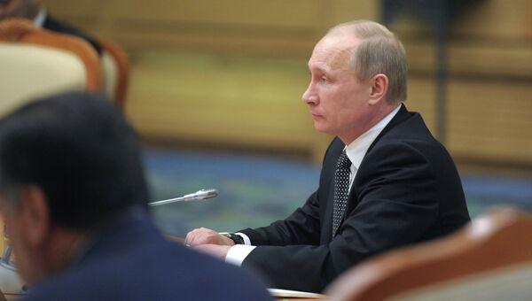Владимир Путин на саммите ШОС в Пекине