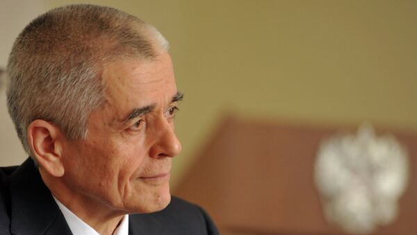 Руководитель Федеральной службы по надзору в сфере защиты прав потребителей и благополучия человека Геннадий Онищенко