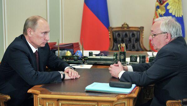 В.Путин встретился с В.Лукиным. Архив