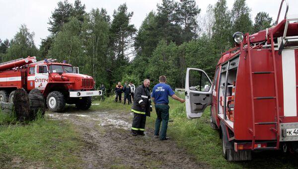 Самолет Су-27 потерпел крушение в районе аэродрома Бесовец