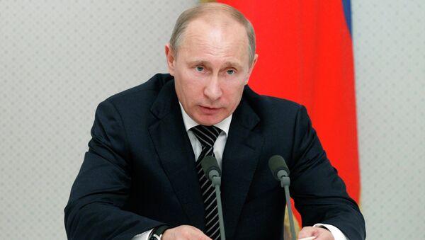 Президент России Владимир Путин проводит совещание в Сочи