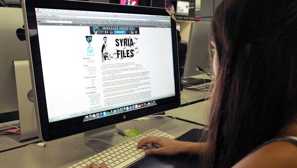 Пользователь читает сайт WikiLeaks
