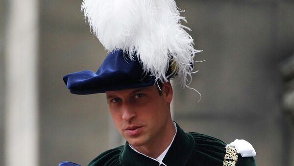 Принц Уильям посвящен в рыцари Ордена Чертополоха