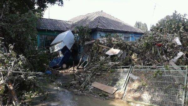 ливень дождь наводнение Краснодарский край Кубань стихия