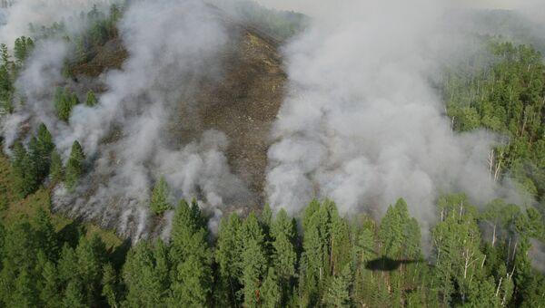 Тушение лесных пожаров в республике Тыва. Архивное фото