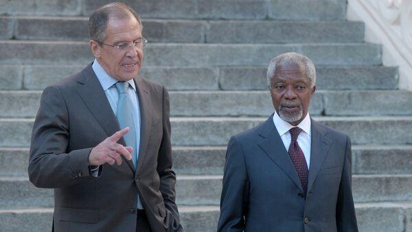 Встреча Сергея Лаврова и Кофи Аннана в Москве. Архив