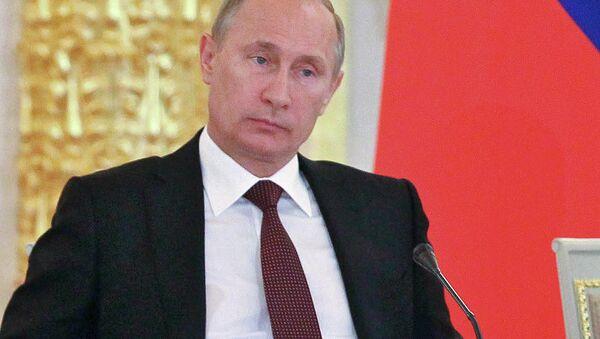 Президент России Владимир Путин на заседании Государственного совета в Кремле. Архив