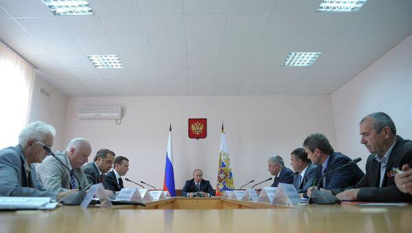 Президент РФ В.Путин посетил Геленджик с рабочей поездкой