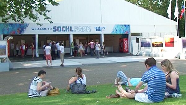 Видеоэкскурсия по Sochi.Park накануне открытия Олимпиады в Лондоне
