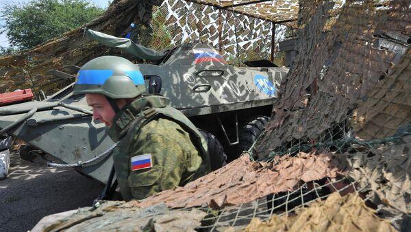 Блок-пост российских миротворцев на въезде в город Бендеры. Архив