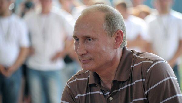 В.Путин на молодежном форуме Селигер-2012