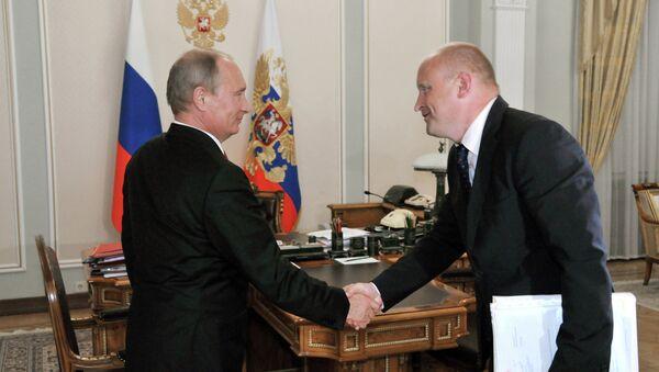 Встреча В.Путина с С.Белоконевым в Ново-Огарево