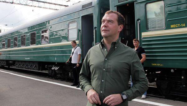 Рабочая поездка Д.Медведева по Сибири.