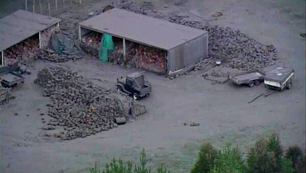 Последствия извержения вулкана Тонгариро в Новой Зеландии