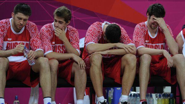 Игроки сборной России по баскетболу, архивное фото