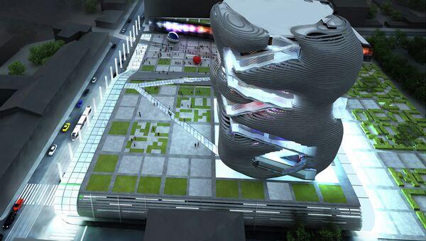 Здание будущего музейно-выставочного комплекса ГЦСИ