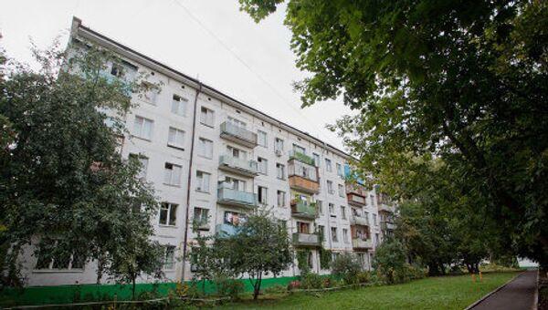 Панельная пятиэтажка в Москве