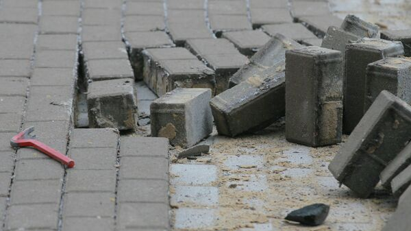 Тротуарная плитка. Архивное фото