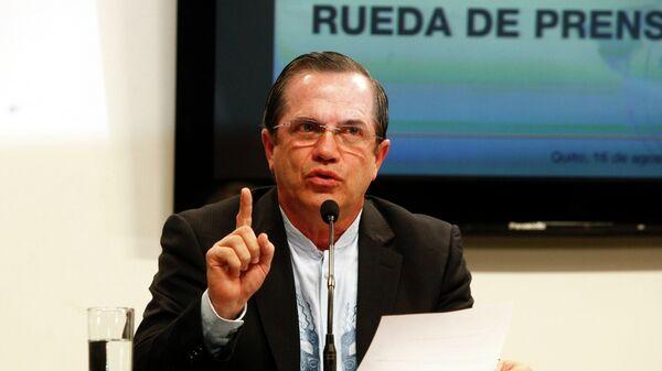 Министр иностранных дел Эквадора Рикардо Патиньо