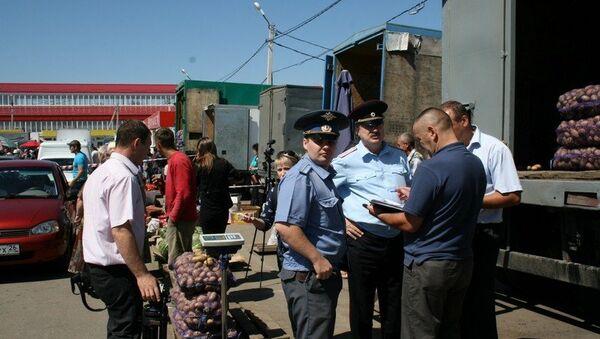 Оперативно-разыскные мероприятия на рынке Южный в Ставрополе